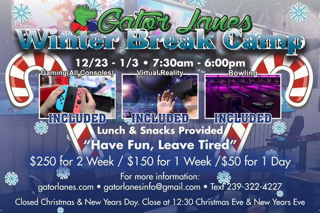 Winter Kids Camp at Gator Lanes